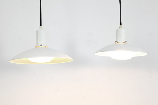 Large White Metal Pendant Light