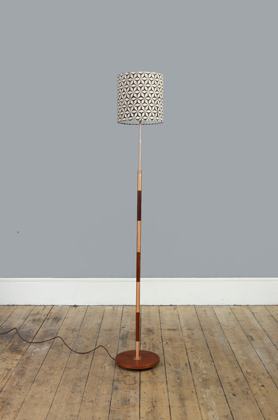 Teak and Copper Floor Lamp