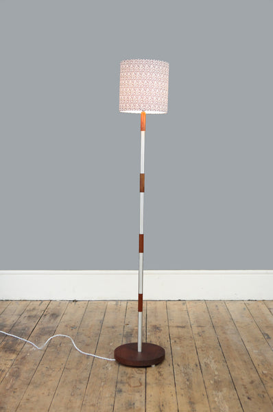 Teak and Chrome Floor Lamp