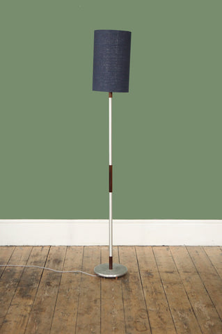 ON SALE //  Rosewood and Chrome Floor Lamp