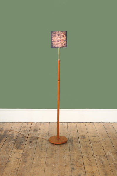 ON SALE //  Elegant Teak Floor Lamp
