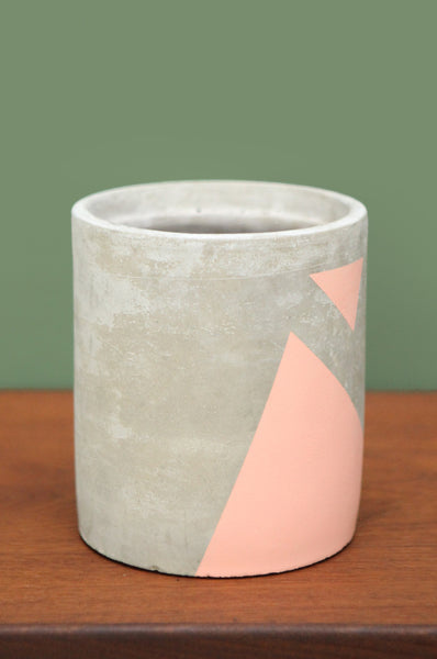 Pink Concrete Planter
