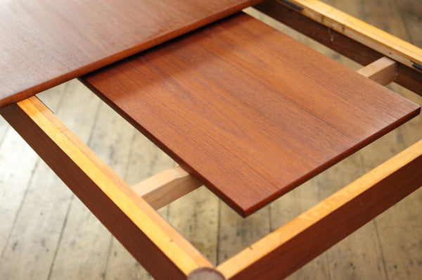 Extendable Rectangular Teak Dining Table