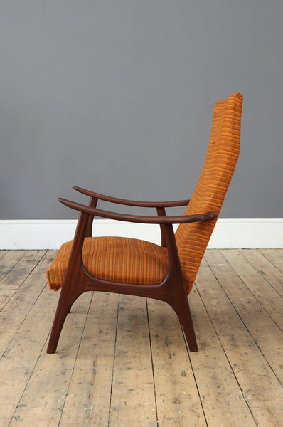 Danish High Back Armchair