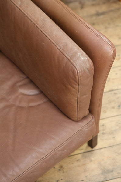 ON HOLD Three Seater Leather Sofa - Forest London