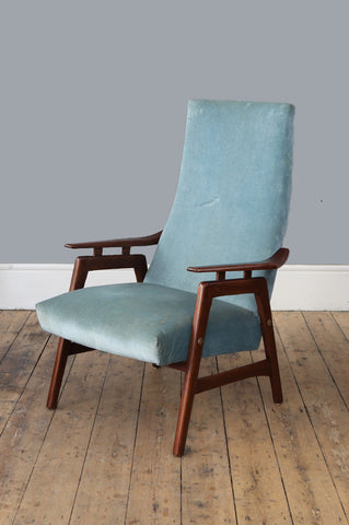 Teak High Back Armchair
