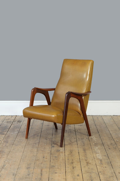 Sculptural High Back Armchair