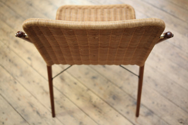 Exceptional Cane & Teak Chair
