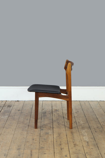 Set of Four Quirky Rosewood Dining Chairs