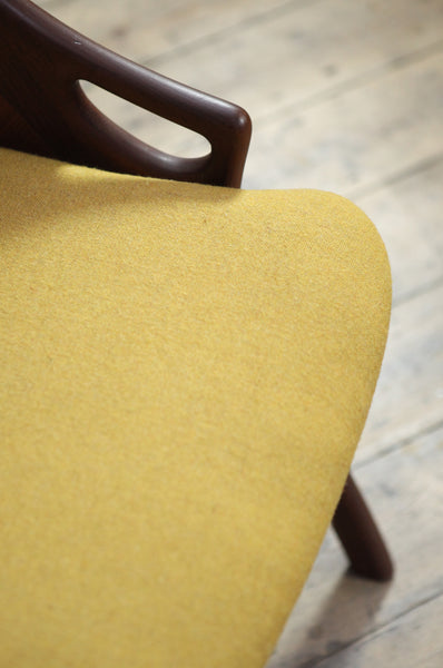 Mustard Occasional Chair by Arne Hovmand Olsen