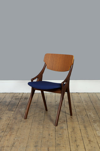 Blue Occasional Chair by Arne Hovmand Olsen