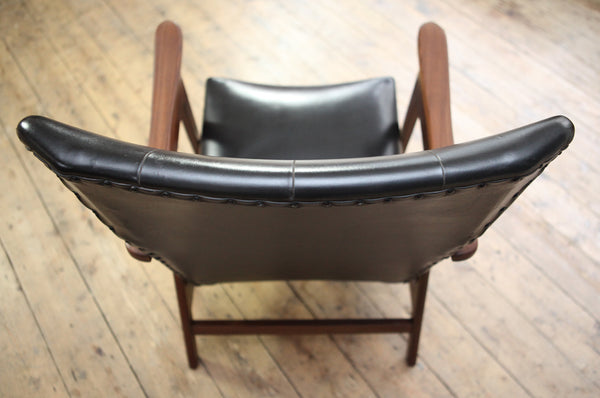 Dutch Black Wingback Armchair