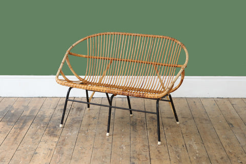 ON SALE // Rattan Two Seater Sofa