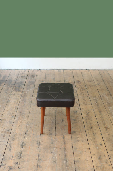 Deep Brown Footstool - Forest London