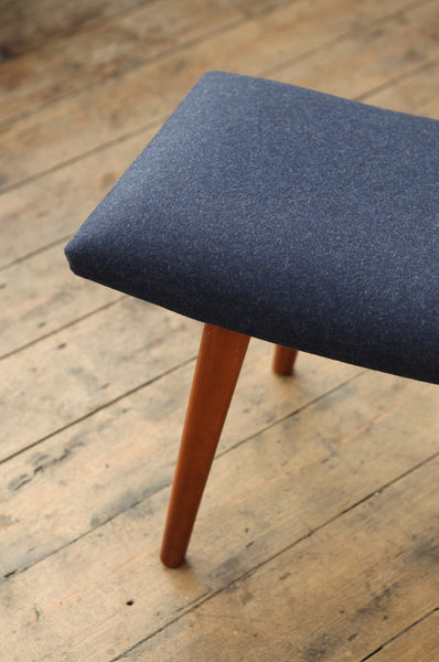 Deep Blue Footstool