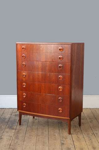 Tall Teak Chest of Drawers