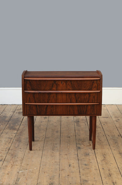 Rosewood Bedside Table & Chest - Forest London