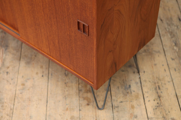 Danish Teak Sideboard with Hairpin Legs