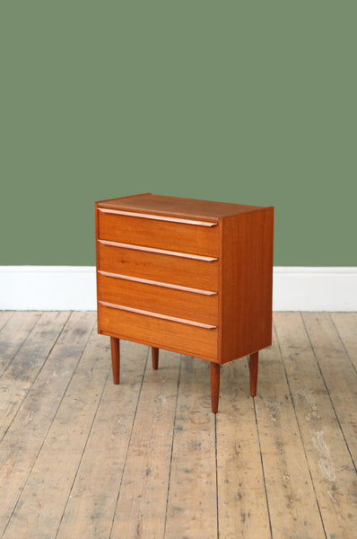 ON SALE // Compact Teak Chest of Drawers