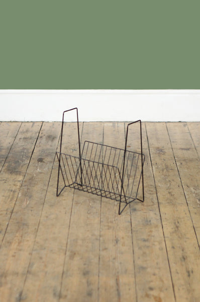 1970s Wire Magazine Rack
