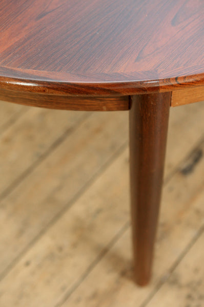 Danish Round Rosewood Dining Table