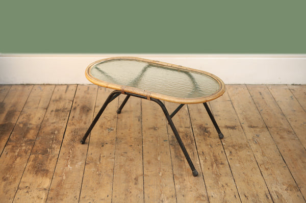 Rattan & Glass Coffee Table - Forest London