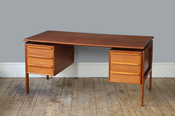 Exceptional Danish Teak Desk