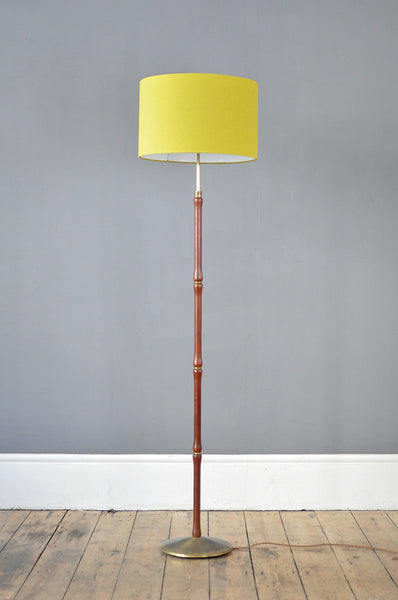 Extendable Teak Floor Lamp