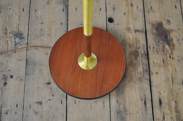 Teak & Brass Floor Lamp