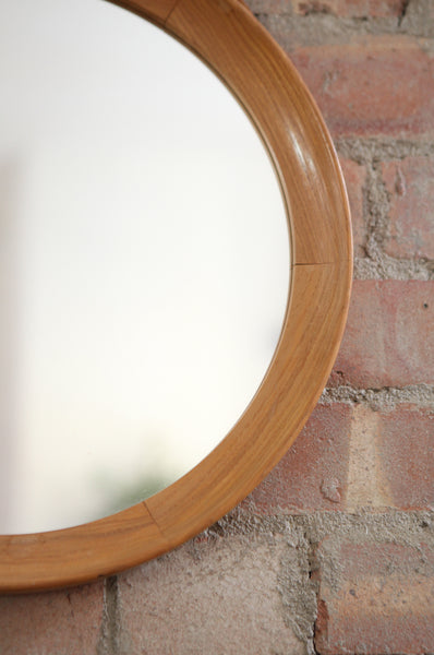 Large Round Wooden Mirror - Forest London