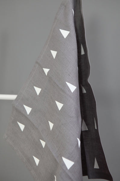 Set of Two Triangle Print Napkins