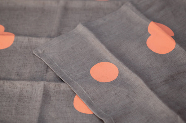 Set of Two Coral Spot Napkins