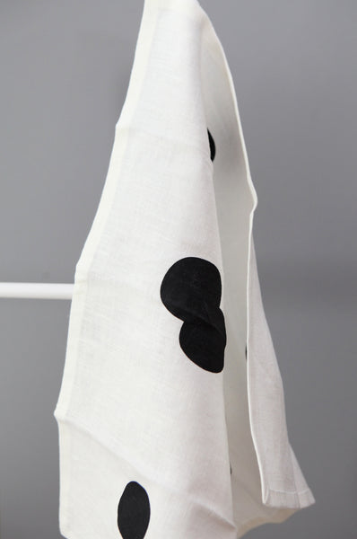 Set of Two Black Spot Napkins