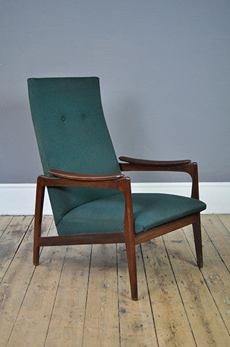 Handsome High Back Armchair