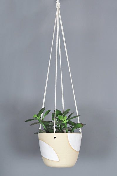 Hanging Planter with Shapes by Hannah Bould