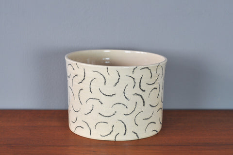 Large Planter with Black Squiggles by Hannah Bould
