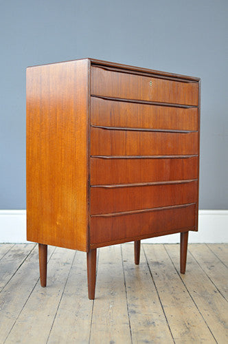Handsome Danish Chest of Drawers