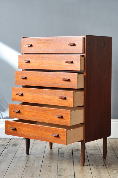 Tall Danish Chest of Drawers