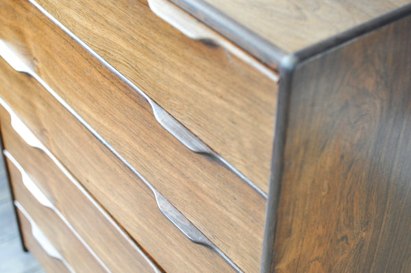 Tall Rosewood Chest of Drawers