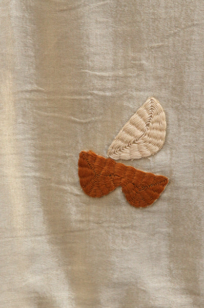Gold Silk Wall Hanging by Laurie Maun - Forest London