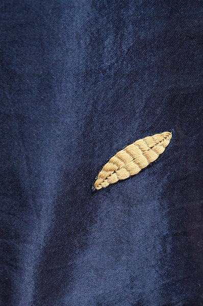 Blue Silk Wall Hanging by Laurie Maun - Forest London