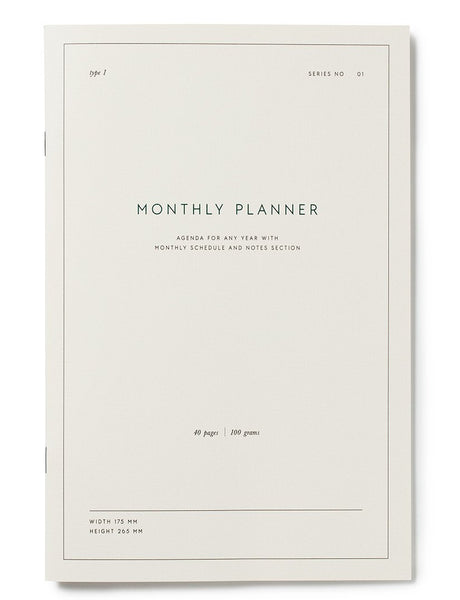 Monthly Planner Notebook