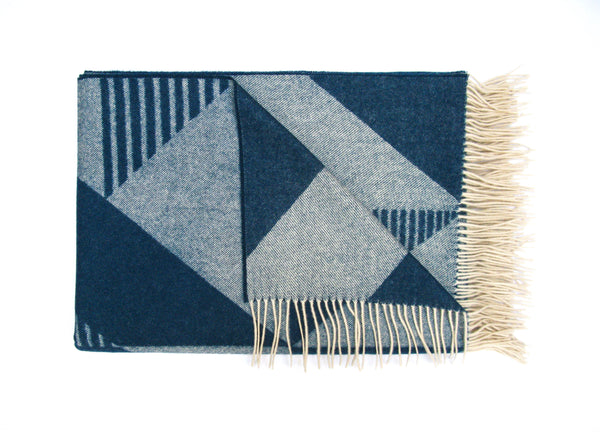 Tamasyn Gambell Pythagorean Blanket in Navy - Forest London