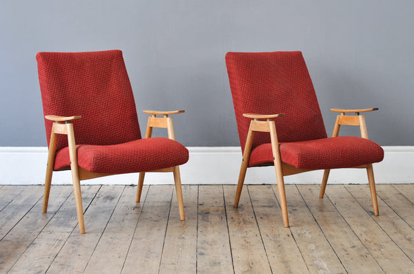 Set of Oak Armchairs - Forest London