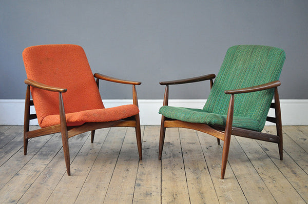 Pair of Dutch Armchairs - Forest London