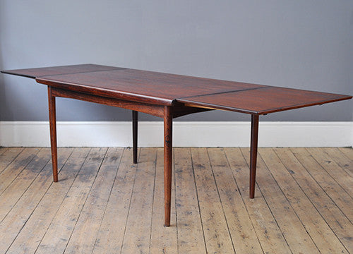 Johannes Andersen Rosewood Extendable Dining Table