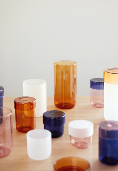 ON SALE // Navy Storage Jars by Hübsch
