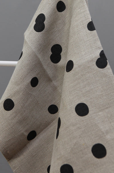 Linen Tea Towel with Spot Print by Gail Bryson