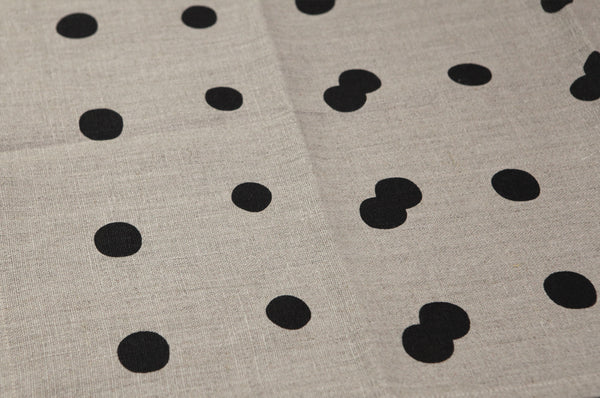 Linen Tea Towel with Spot Print by Gail Bryson - Forest London