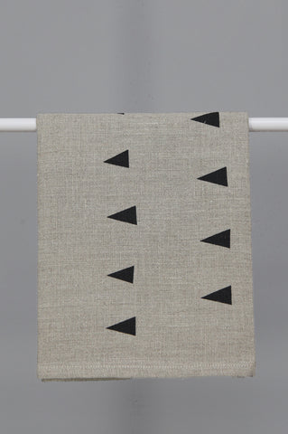 Linen Tea Towel with Triangle Print by Gail Bryson